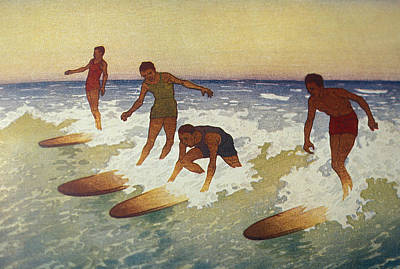 C.1927 Hawaii, Painting, Charles Poster by Hawaiian Legacy Archive