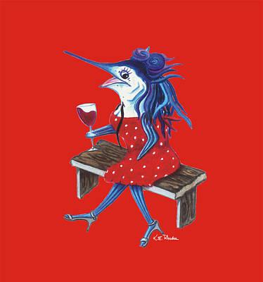 Cabernet Trixie Poster by Karen Rhodes