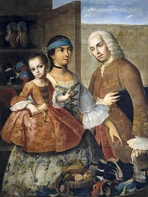 Cabrera, Miguel 1695-1768. De Espa�ol Y Poster by Everett