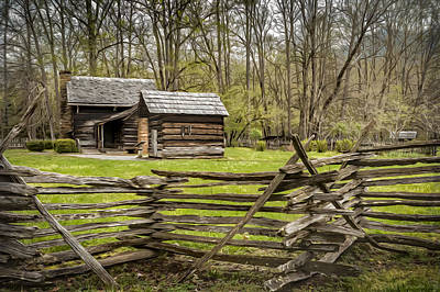 Cades Cove Cabin Poster by Eduard Moldoveanu