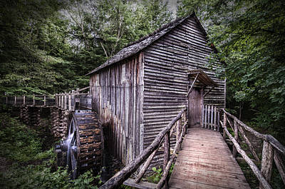 Cades Cove Rustic Cable Mill  Poster by Thomas Schoeller