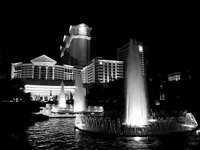 Caesars Fountain 2 Poster by Jenny Hudson
