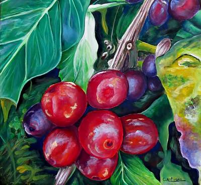Cafe Costa Rica Poster by Carol Allen Anfinsen
