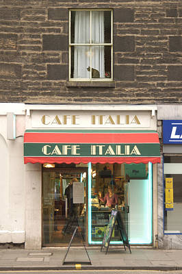 Cafe Italia Poster by Mike McGlothlen