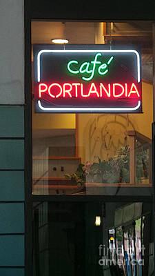 Cafe Portlandia Poster by David Bearden