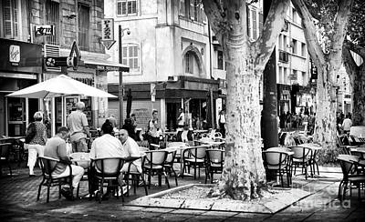 Cafe Time In Marseille Poster by John Rizzuto