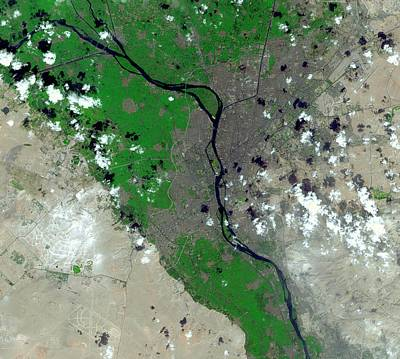 Cairo Poster by Nasa/gsfc/meti/japan Space Systems/u.s.,japan Aster Science Team
