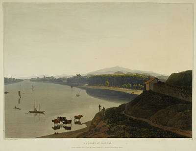 Calcutta. Boats On The Water Poster by British Library