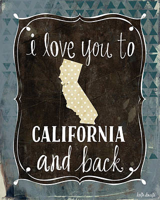 California And Back Poster by Katie Doucette
