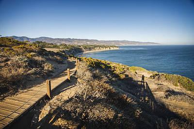 California Coastline From Point Dume Poster by Adam Romanowicz
