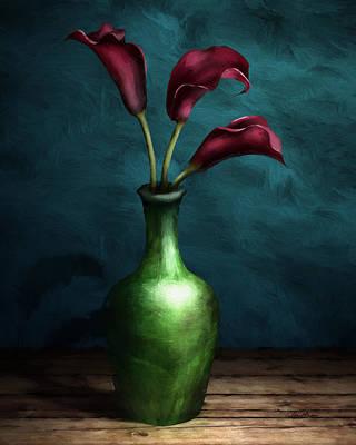 Calla Lilies I Poster by April Moen