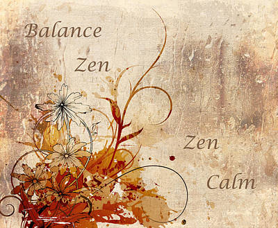 Calming Zen Poster by Georgiana Romanovna