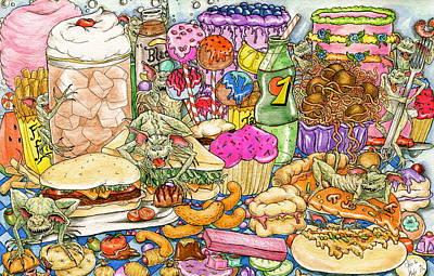 Calorie Gremlins Poster by Julie McDoniel
