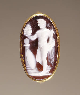 Cameo Gem Set Into A Ring Unknown Rome Poster by Litz Collection