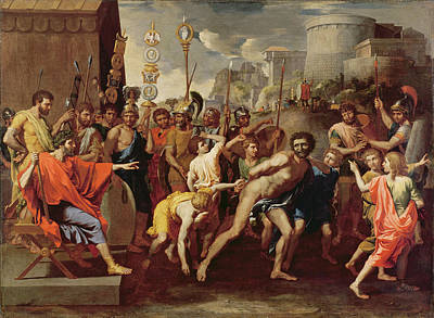 Camillus And The Schoolmaster Of Falerii, C. 1635-40 Oil On Canvas Poster by Nicolas Poussin