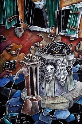 Campiello Delle Strope - Pittori Veneziani Contemporanei Poster by Arte Venezia