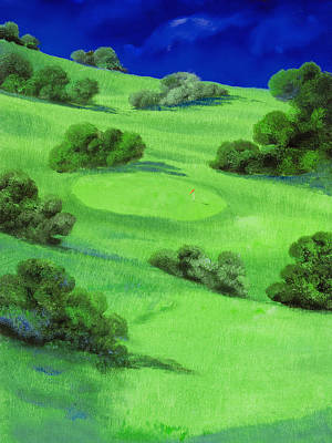 Campo Da Golf Di Notte Poster by Guido Borelli