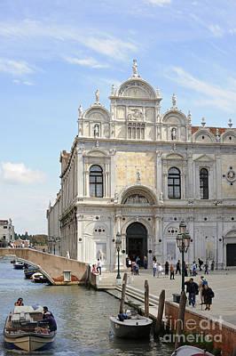 Campo Santi Giovanni E Paolo In Venice Poster by Gordon Sinclair