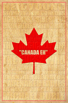 Canada Music 1 Poster by Andrew Fare