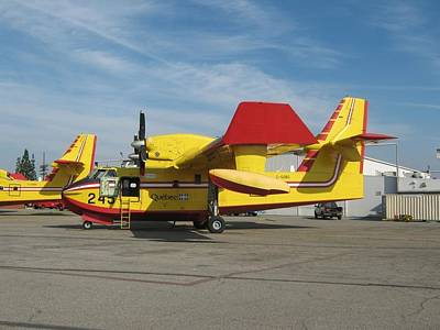 Canadair Cl-415 Water Bomber Poster by Jonathan Taub