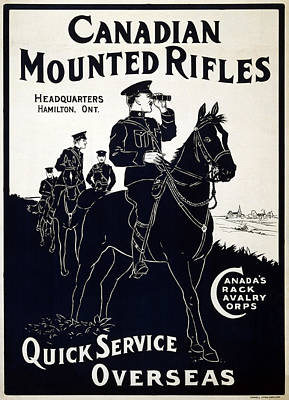 Canadian Mounted Rifles Poster by Georgia Fowler