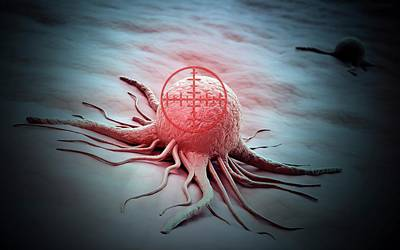 Cancer Cell Poster by Andrzej Wojcicki
