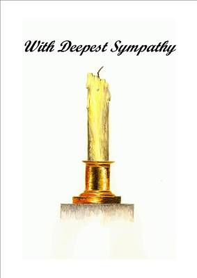 Candle - With Deepest Sympathy Poster by Michael Vigliotti