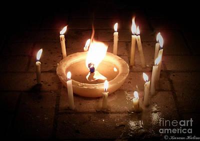 Candles For Innocent Souls Poster by Karam Halim