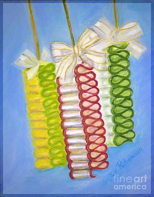 Candy Ribbon  Poster by Iris Richardson