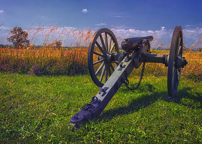 Cannon At Gettysburg Poster by Larry Helms