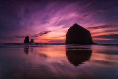 Cannon Beach Dreams Poster by Darren  White