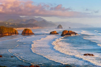 Cannon Beach Sunset Poster by Darren  White