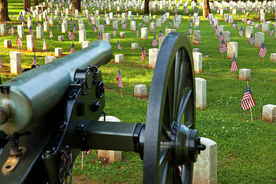 Cannon Stands Guard On Memorial Day Poster by Brian Jannsen