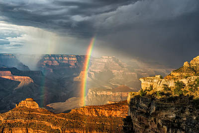 Canyon Rainbow Poster by Guy Schmickle