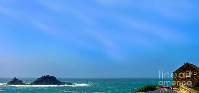 Cape Cornwall And The Brisons Rock Poster by Linsey Williams