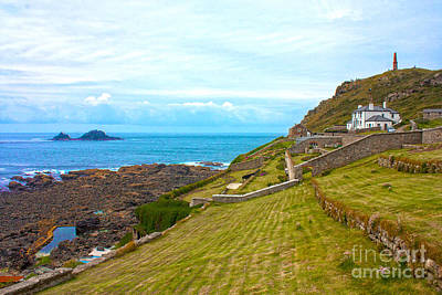 Cape Cornwall Poster by Terri Waters