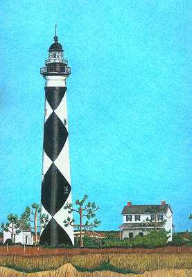 Cape Lookout Lighthouse Poster by Karen Rhodes
