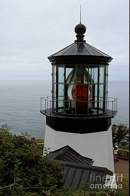 Cape Meares Light Poster by Sharon Elliott