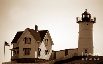 Cape Neddick Lighthouse Poster by Skip Willits