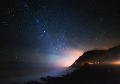 Cape Perpetua Celestial Skies Poster by Darren  White