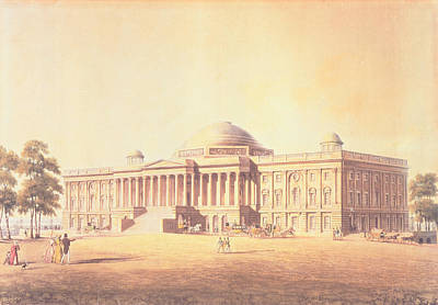 Capitol Of The United States, Engraved By Thomas Sutherland, 1825 Aquatint Poster by Benjamin Henry Latrobe