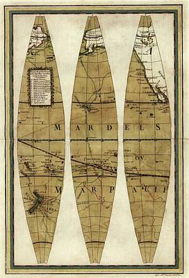 Captain Cook's Voyages Poster by Library Of Congress, Geography And Map Division