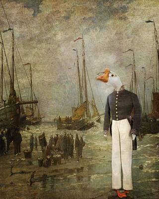 Captain Ganders Retires Poster by Terry Fleckney