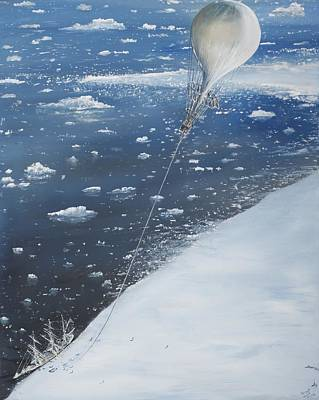 Captain Scott Antarcticas First Aeronaut Poster by Vincent Alexander Booth