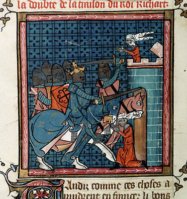 Capture Of Acre Poster by British Library