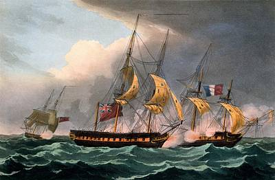 Capture Of La Loire Poster by Thomas Whitcombe