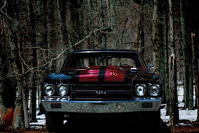Car Art Chevy Chevelle Ss Hdr Poster by Lesa Fine