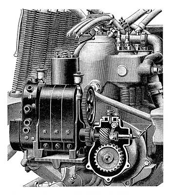 Car Engine And Magneto Poster by Science Photo Library