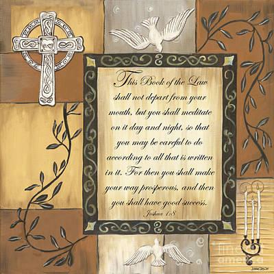 Caramel Scripture Poster by Debbie DeWitt