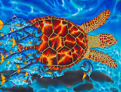 Carbbean Sea Turtle Poster by Daniel Jean-Baptiste